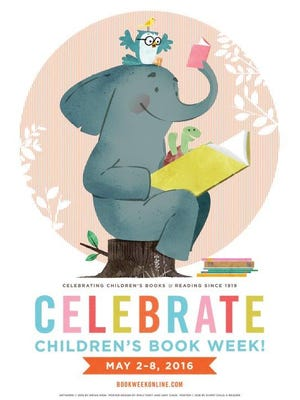Brian Won designed the poster for Children's Book Week.