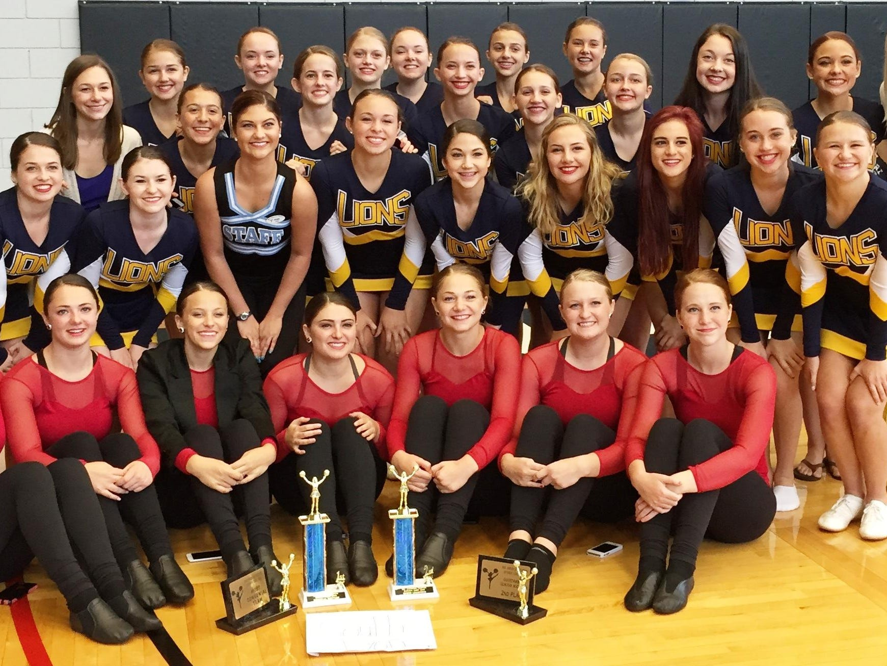 The 2015-2016 South Lyon High School varsity pompon team earned a first-place award for their performance at the Mid American competition, June 19-22, at Davenport University in Grand Rapids. South Lyon, coached by Leah Seery and Chelsea Amman, also added seconds for kick line and speed learning routines, while the seniors also finished second in kickline. Named to the Mid American All Star team was senior Caitlin Cavicchiolo, senior captain Melissa Finn and junior Callie Manasco. Other team members include seniors Kelsie Schutz (captain), Caitlin Cavicchiolo, Kayla Choiniere, Krista Eeley, Brooke Essenmacher, Gabby Resnick; juniors Lauren Bunker, Jessica Ellis,Leah McIlreavy, Olivia O'Connell, Natalie Perrone, Caroline Perry, Lauren Savanyu, Sydney Smith, Brittney Zabinski; sophomores Emma Campbell, Allison Havrilla, Danielle Havrilla, Katie Jakubik, Evelyn Keller, Bailey Papich, Jenna Potter, Lexie Resnick; and freshmen Caroline Badrak, Molly Thomas and Taylor Vitori.