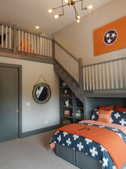 The Woodridge Homes model features a boy's bedroom, interior design Nashville, TN, CIDA interior design school - O'More College of Design