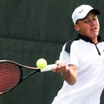 Nikita Larichev during the second day of the USTA Intersectional Tennis at Pierremont Oaks Tennis Club.