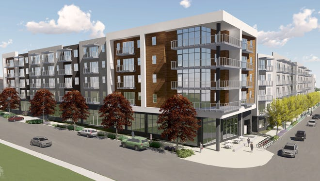 Rivertop would be LIV Development's second Nashville area apartment project after The Cleo (shown in this rendering), which will bring 291 apartment units to East Nashville.