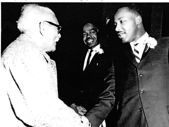 Local historian Kurt Thornton shared this photograph of Martin Luther King Jr.'s visit to First United Methodist Church in 1960 from the church's archives.