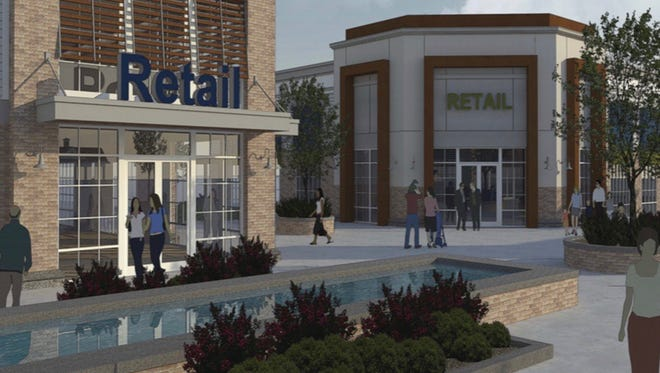 Early renderings of the proposed Park Place Outlet Mall.