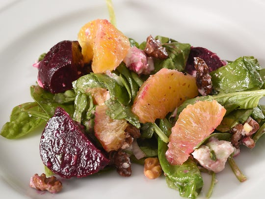 Roasted Beet with Goat Cheese Salad