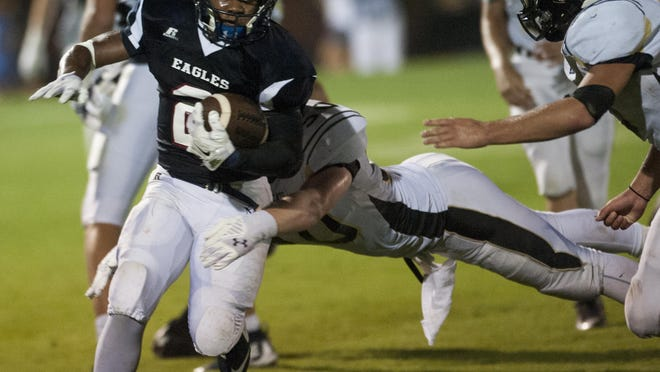 Montgomery Academy's Nelson Whyte had 18 carries for 165 yards against Beulah on Friday at MA's campus.