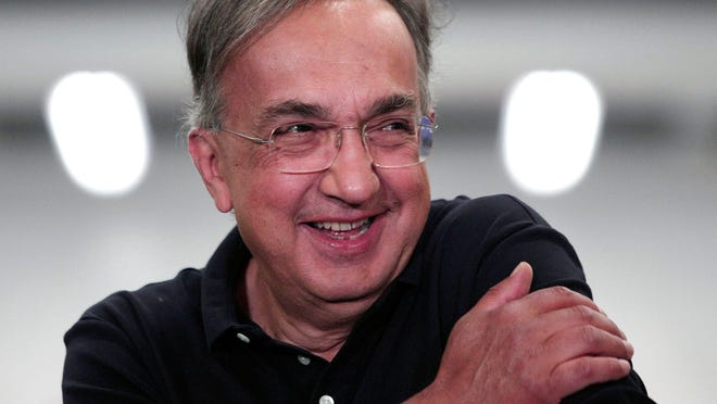 STERLING HEIGHTS, MI - AUGUST 26: Fiat Chrysler Automobiles CEO Sergio Marchionne takes part in an event celebrating the start of production of three all-new stamping presses at the FCA Sterling Stamping Plant August 26, 2016 in Sterling Heights, Michigan. The presses, whose installation began in July 2015 and cost $166 million, will increase the stamping capacity at the plant.