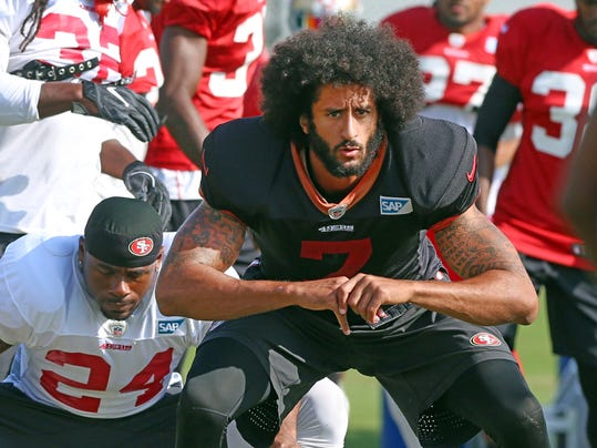 San Francisco 49ers quarterback Colin Kaepernick (7) practices at UCF,  Thursday, Dec. 1, 2016, in Orlando, Fla. The 49ers play against the Chicago Bears on Sunday in Chicago.  (Red Huber/Orlando Sentinel via AP)