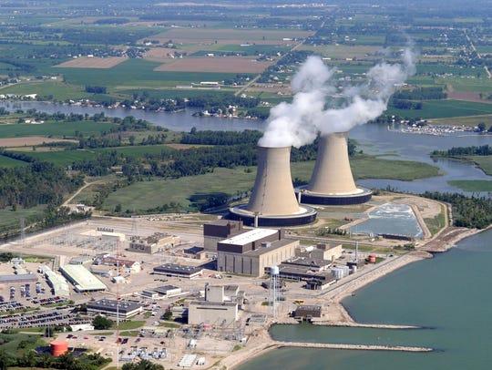 The Fermi 2 nuclear power plant.