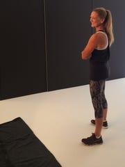 Kim Griner Heinz poses for Runner's World magazine