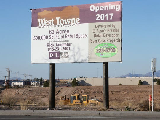 A sign announces the 500,000 square-foot West Towne