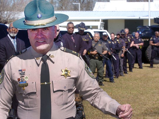 Capt. Clay Higgins of the St. Landry Parish Sheriff's
