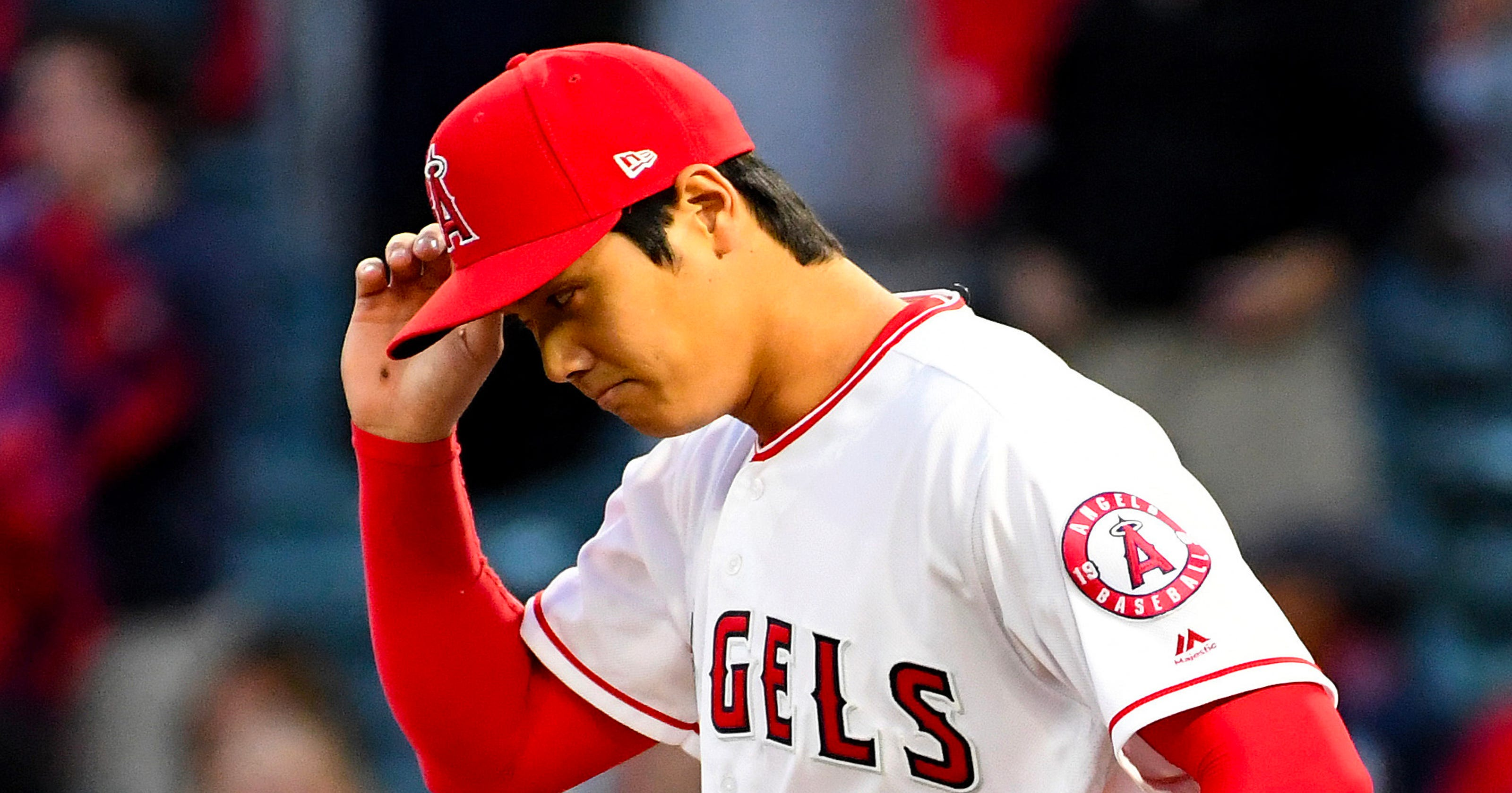4b228a46c57 Angels  Shohei Ohtani removed from game against Red Sox with blister after  two innings