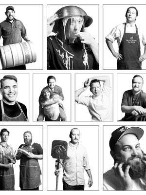 The culinary professionals presenting signature events during Reno Bites restaurant week are (left to right): Top row: Strowmatt of the Depot, Alumbaugh of Homage Bakery, Woodall of Bistro 7. Middle row: Estee of Local Food Group, Deri and Deri of Blend Catering, McCabe of Chez Louie, Spenella of Burger Me. Bottom row: Goldhammer and Leppek of Noble Pie Parlor, Madan of SouthCreek Pizza, Haas of Reno Provisions.