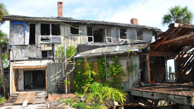 The old home at the southern tip of Merritt Island was heavily damaged in 2004 by hurricanes.