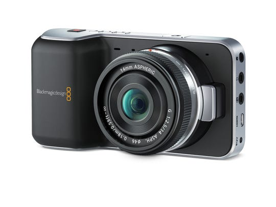 The Blackmagic Pocket Cinema Camera is easy to hold while also grabbing cinematic shots.