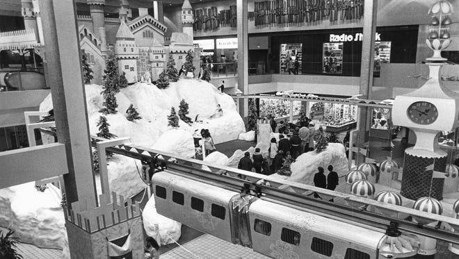 Christmas in Midtown Plaza, Nov. 28, 1977.