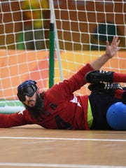 The U.S. men's goalball team defeated Finland, 6-2,
