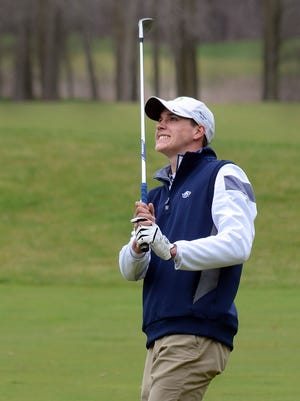 Nic Hoffman shot 77 to tie teammate Bryce Brief for second place, leading Hartland to first place in the KLAA Lakes Conference preseason tournament.