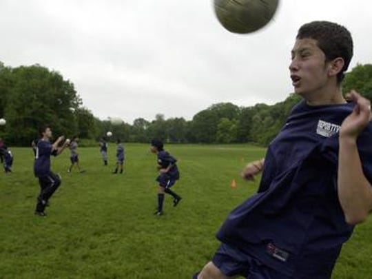Soccer playing at county-owned Tibbitts Brook Park in Yonkers