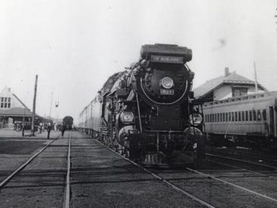 """The Blue Comet"" passenger train makes a scheduled stop in Lakewood in this undated photo. The old tracks that carried the train between Jersey City and Atlantic City will border the new county park in Manchester. The specific section of track is located between Lakewood and Lakehurst."