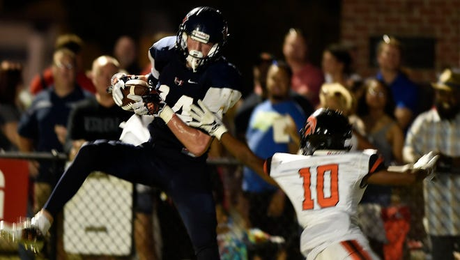 White House Heritage's Nick Desmarais (14) had six catches for 231 yards and three touchdowns on Friday.