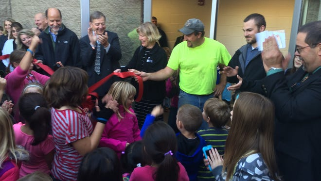 A ribbon cutting for Plover-Whiting Elementary School's new kindergarten wing was held Thursday.