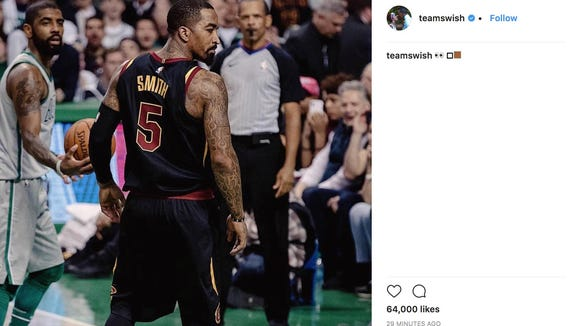 J.R. Smith throws shade at Kyrie Irving in cryptic Instagram post