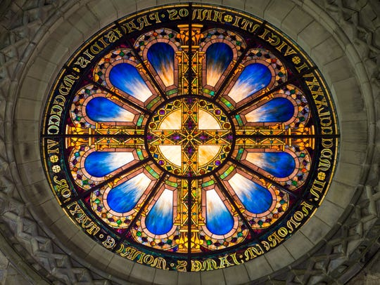 Louis Comfort Tiffany Rose Window,1906. The 12-foot-diameter