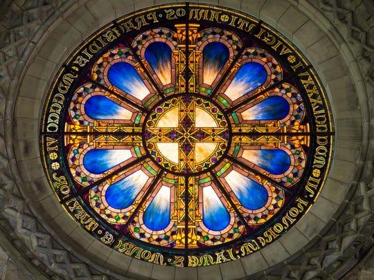 Louis Comfort Tiffany Rose Window,1906. The 12-foot-diameter