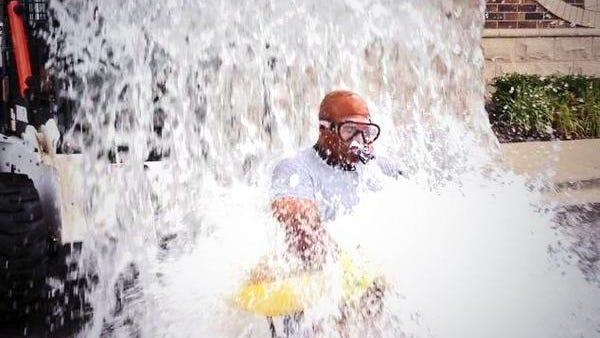 Auburn legend Bo Jackson took part in the ALS Ice Bucket Challenge.