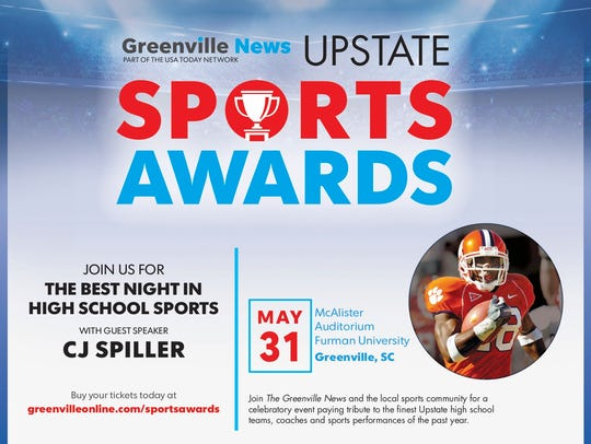 Each student-athlete will be honored at The Greenville
