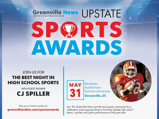 Each student-athlete will be honored at The Greenville News All-Upstate Awards Program on May 31.