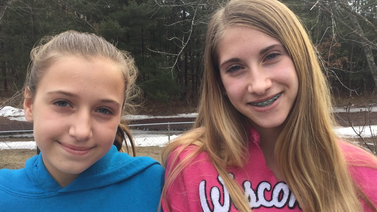 """Sisters Alaina and Addalynn Kawleski may have seen Bigfoot in their backyard. Their story got them on the TV show """"Finding Bigfoot."""""""