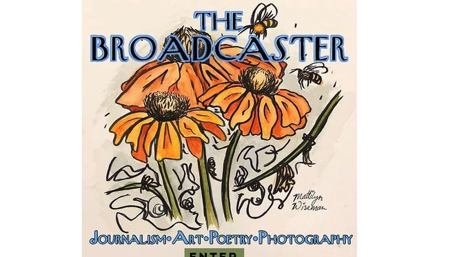 The landing page for The Broadcaster, the online publication produced entirely by Deming High students.
