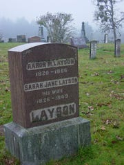 Pioneers Aaron and Sarah Jane Layson eloped and came to Oregon in 1843. They are buried at Hopewell Cemetery.