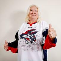 Jan Nicholson, of Pine Valley, won an autographed Elmira Jackals jersey courtesy of the Star-Gazette.