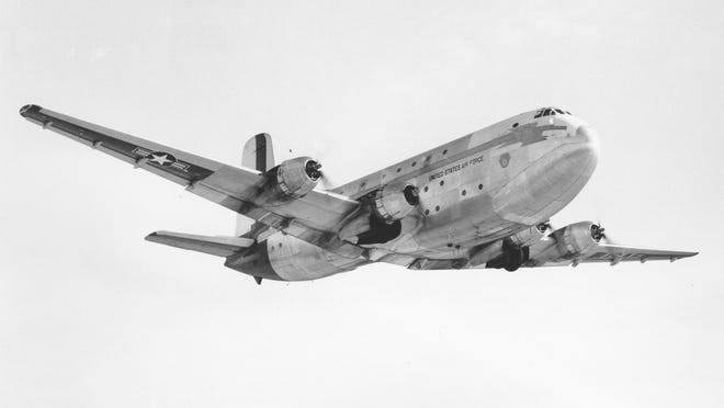 A C-124 of the type that was lost in the Atlantic Ocean in March 1951, carrying USAF Brig. Gen. Paul T. Cullen and more than 50 other specialists in jet flight, reconnaissance, targeting and nuclear weapons, into oblivion and mystery.