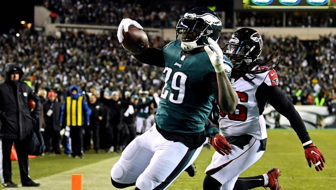 RB LeGarrette Blount and the Eagles will host the NFC Championship Game on Jan. 21.