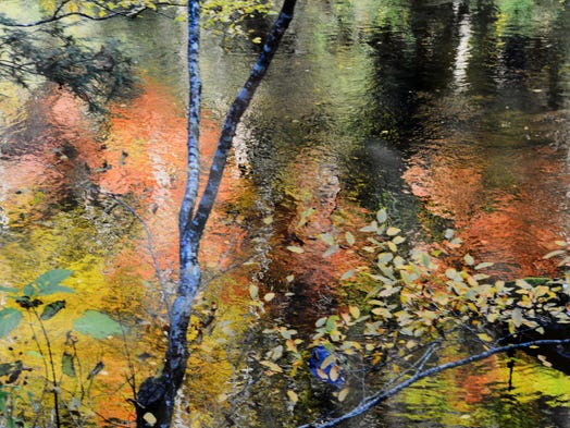 """A Monet Moment in Gatlinburg"" by Jean Tarnok at Blue Morning Gallery refers to the famed ""Waterlillies."""