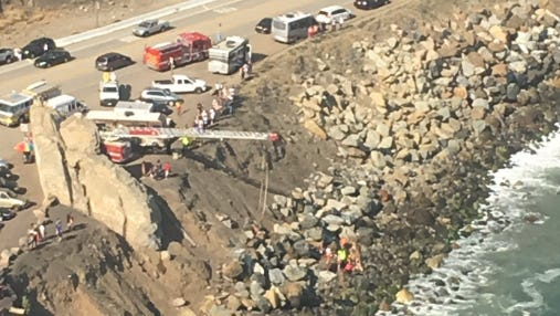 A man was killed when a two-seater ultralight plane crashed into the ocean near Mugu Rock on Saturday.