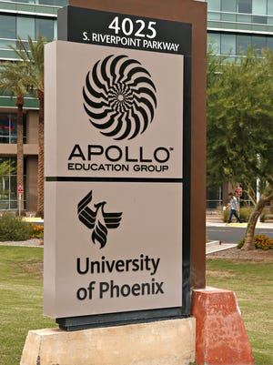 Apollo's key holdings are University of Phoenix, Western International University, Carnegie Learning, College for Financial Planning and Apollo Global.