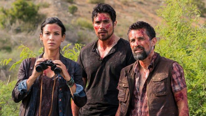 Danay Garcia as Luciana, Carlos Sequra as Scout, and Alfredo Herrera as Francisco in AMC's 'Fear the Walking Dead.'