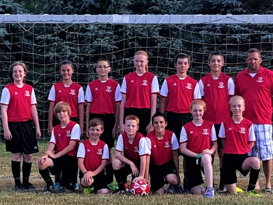 The SVE Soccer Club's U12 team went undefeated in Division