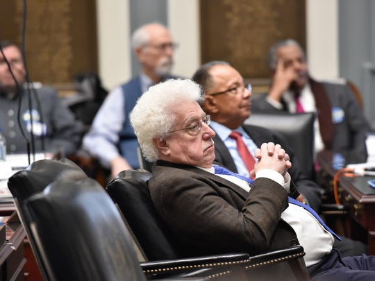 State Rep. John Kowalko Jr., D-Newark South, listens during a session of the General Assembly at the Statehouse in Dover on Thursday.