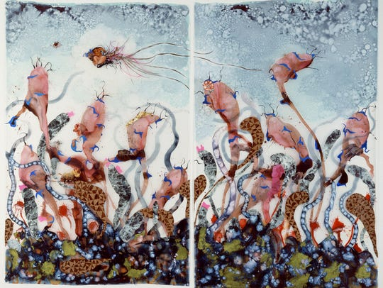 Wangechi Mutu (b. 1972, Nairobi; based in Brooklyn).