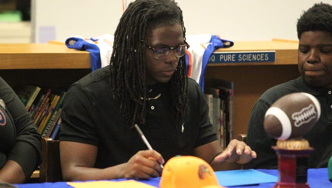 Jefferson County High senior Zoron Wade signed his letter of intent Wednesday to play college football at Florida A&M. Wade will be a preferred walk-on for the first year and work towards receiving a scholarship the next year.