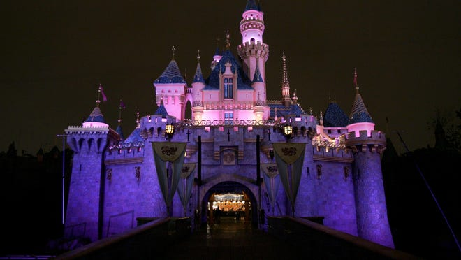 ANAHEIM, CA - MAY 04:  Sleeping Beauty's Castle is seen prior to the opening day at King Arthur Carousel during the Disneyland 50th Anniversary Celebration at Disneyland Park on May 4, 2005 in Anaheim, California.  (Photo by Frazer Harrison/Getty Images)