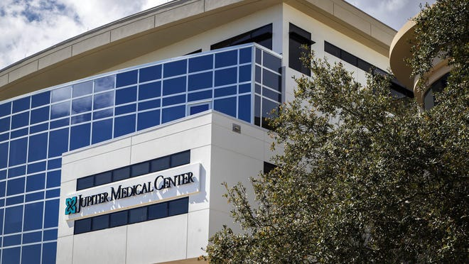 Jupiter Medical Center opened the top two floors of the new patient tower in early March. A new women's oncology wing and concierge suites are situated on the floors in Jupiter, Feb. 20, 2019.