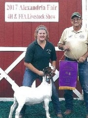 Samantha Webster was named an Outstanding Senior 4-H