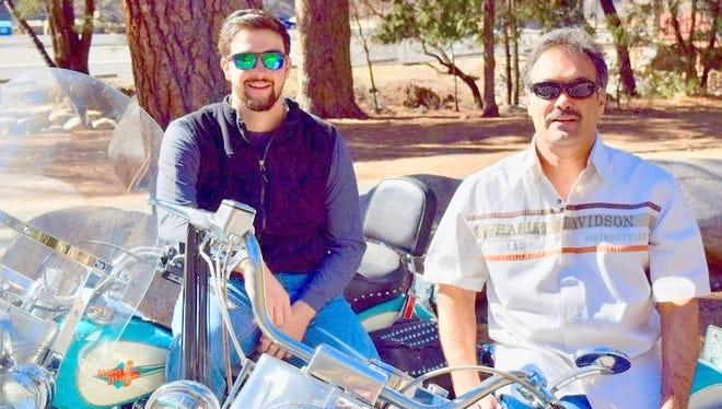 Blayne Maldonado, left, and his father, Humberto Maldonado, embark on a new adventure in Ruidoso staging the AspenCash and Golden Aspen motorcycle rallies.